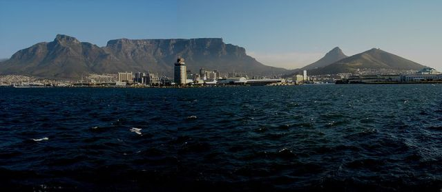Table Top Mountain view from the harbour