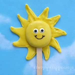 Earth Day recipes, food, sunshine lollipops, Wilton candy melts, chocolate