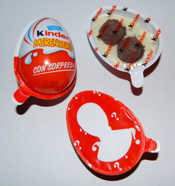 Srcummy eggs with choking hazards inside....