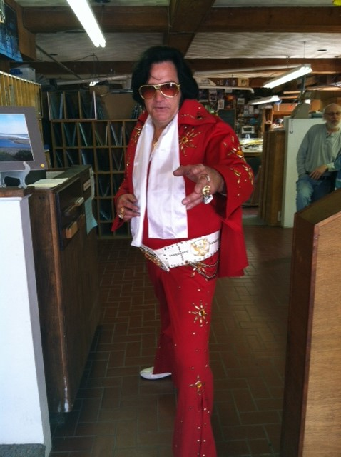 Elvis was, literally, in the building