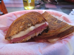 I got me a delicious Reuben sandwich - check that off the to-do list!