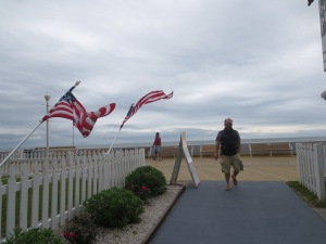 The American flag was flying everywhere for Memorial Weekend