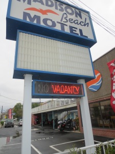 If you want cheap and cheerful, motels are the way forward :)