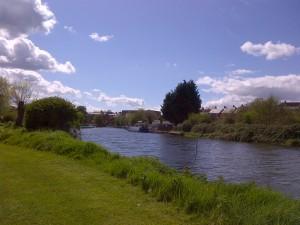 The Wychavon riverbank