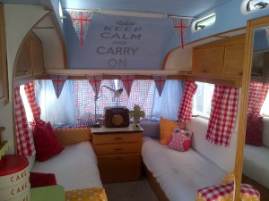 A delightfully British caravan!