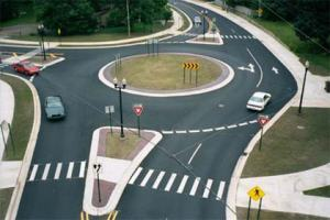 An American roundabout (rotary)