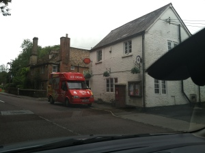 A post office and an ice-cream van!