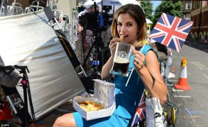 An American TV presenter indulges in British pastimes whilst waiting for the Royal Twinkle to pop out