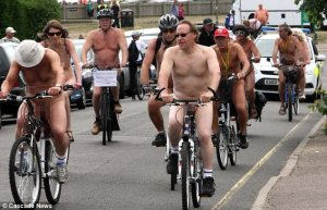 What's not to like about a nudey bike ride?!