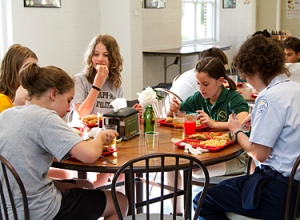 Eating and talking - heaven forbid!
