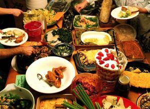 Pot luck - an American tradition