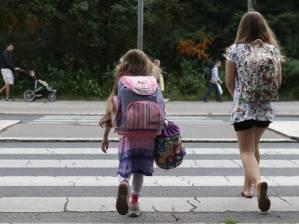 Walking to school!