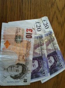 Oh I've missed you British notes!