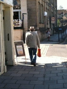 One of many gents in a hat
