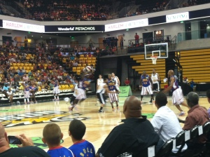 Dancing with and watching the Harlem Globetrotters