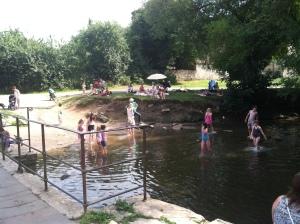 Summertime splashing for the kids in the Avon