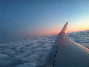 Last flight home from Chicago