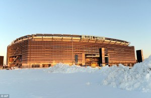 The NFL title hasn't been decided in a snow storm since 1948, before the Super Bowl.
