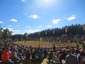 The jousting arena hots up