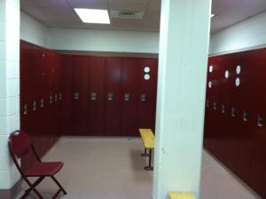 Ah, the locker room