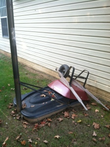 The offending and unsightly wheelbarrow :(