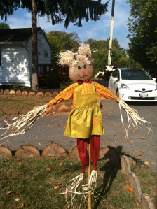 A female scarecrow - how modern!