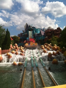 The bloomin' log flume
