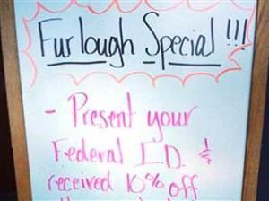 Specials for Furloughs!
