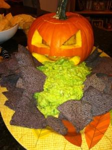 Yes, a barfing pumpkin