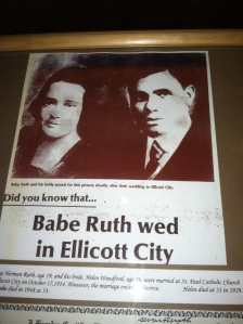 Did you know that he wed in Ellicott City? Well, now you do!