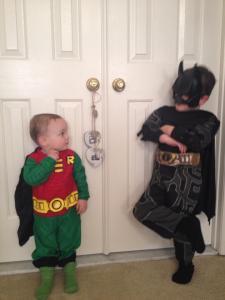Batman and Robin cutiepieness