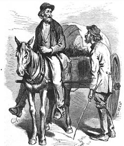 """A pair of Georgia crackers"" as depicted by James Wells Champney from The Great South by Edward King, 1873"
