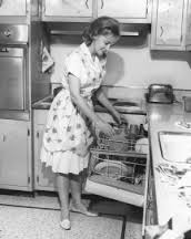 A desperate housewife unloading the dishwasher. Isn't that fascinating..? ;)