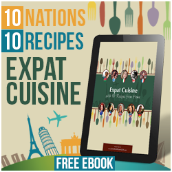 That's me and other expats on the cover of the Expat Cuisine Book!