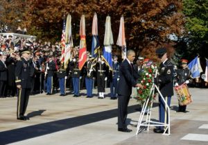 Obama lays a wreath at Arlington Cemetery
