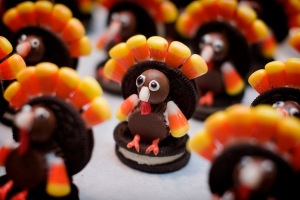 I would not be thankful for these Oreo cookie turkey things tho... barf!