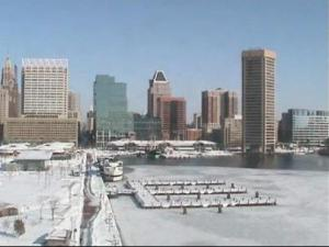 Baltimore in the snow