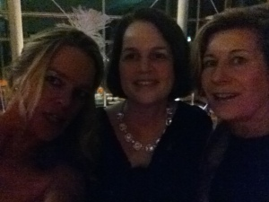 Courtney Watson and Jessie Newburn and me (trying to figure out the flash!)