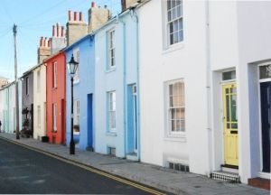 Jolly and bright houses in Brighton, England