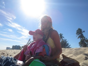 This is me being a mum. And yes, I am sunbathing ;)