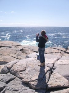At the stunning Peggy's Cove on a beautiful spring day.