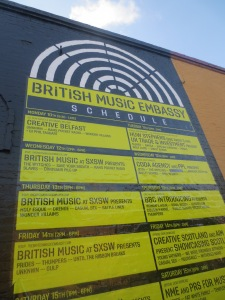 Music is big in Austin - and British music too!