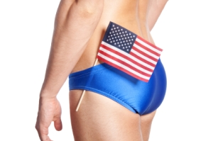 An American butt (let me tell you, when I Google imaged those words, you won't believe what came up! And I found a male butt, rather than a female butt - rejoice! ;) )