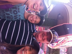 Gwen's family at Universal
