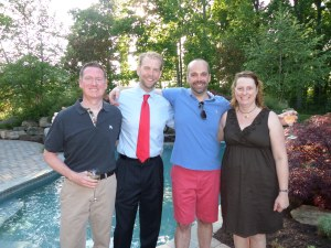 Tom with hosts Dale and Jeff and Carrie from Equality Maryland
