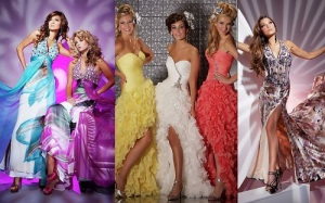 A glamourous array of dresses....