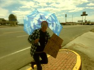 Selling umbrellas ;)