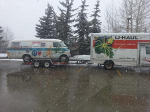 Uhaul box truck and trailer