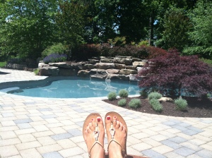 Classy sunbathing