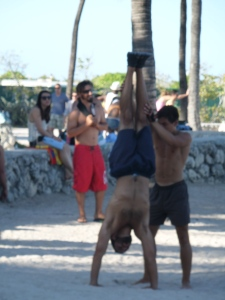 Muscle Beach gymnastics